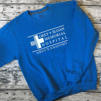 Grey Sloan Memorial Hospital Sweatshirt from the show Grey's Anatomy! Cute & Cozy Crewneck Sweatshirt