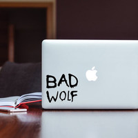 Doctor Who Bad Wolf Decal (free shipping)
