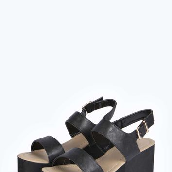 Alicia Double Strap Sling Back Flatform