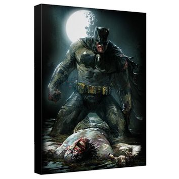 Batman - Mudhole Canvas Wall Art With Back Board