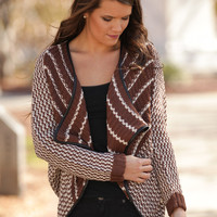 Chilly Day Brown Cardigan