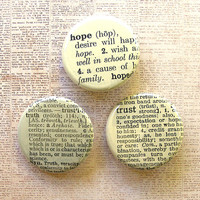 Hope and Trust Pinback Button Set