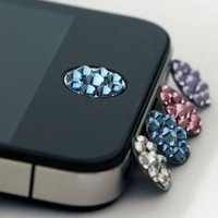 JisJass Collection - Amazon.com: one piece blue Bling Rhinestone iPhone Home Button Sticker in clear plastic bag: Cell Phones & Accessories