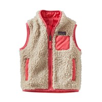 Patagonia Baby Retro-X® Windproof Vest | Natural w/Indy Pink