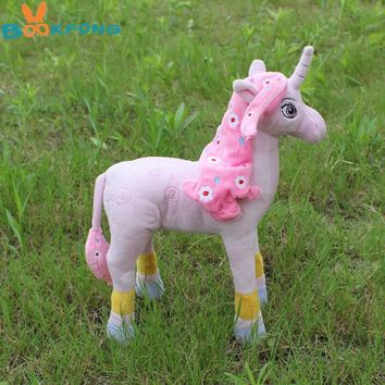 Mia and Me Toy 30CM Plush Pink Unicorn Cartoon Animal Unicorn Plush Horse Baby Girls Accompany Toy
