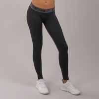 Gymshark Flex Leggings - Black Marl/Charcoal