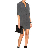 Equipment Slim Signature Dress in True Black | FWRD
