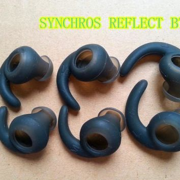 1set(6pcs) replacement silicone ear tips buds earbuds eartips For Synchros Reflect BT headset sport headphone earphone