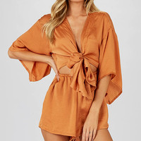 Mallow Playsuit - Brown