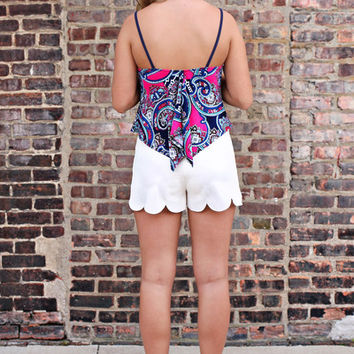 On Point Paisley Tank
