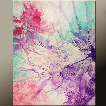 Abstract Canvas Art Contemporary Painting 18x24 by Destiny Womack - dWo - Tangled Webs
