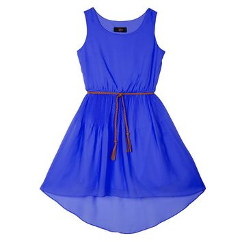 IZ Amy Byer Release Pleat High-Low Dress - Girls