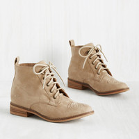 Have a Good Skip! Bootie in Sand | Mod Retro Vintage Boots | ModCloth.com