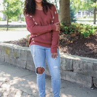 Double Dose Sweater - Marsala
