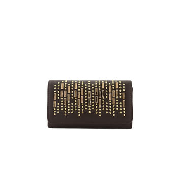 Brown & Gold Studded Wallet