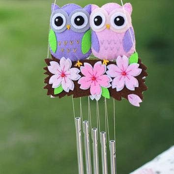 Handmade Felt Craft Pack Cute Owl Sakura Campanula Door Trim Ornaments Bedroom Decor DIY Fabric Material Package