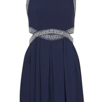 **Malaga Embellished Dress by TFNC - Navy