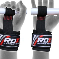 RDX Gel Padded Weight Lifting Gym Straps Hand Bar Wrist Support Gloves Wraps DT