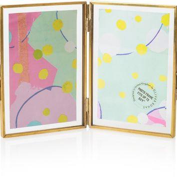 "6 x 4"" Gold & Glass Double Portrait Frame 