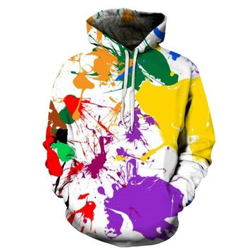 NEW 2018 graffiti Rainbow Horse Digital Printing Hooded Hoodies For Men/Women 3d Sweatshirts Long Sleeve Hoody Cap Pullovers
