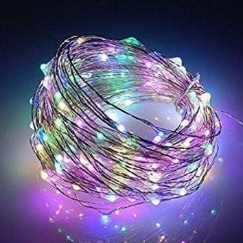 Rainbow Unicorn Remote LED Fairy Lights 16FT