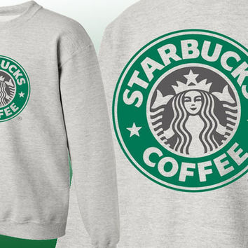 Starbucks Sweatshirt Crew Neck Coffee Cafe Mocha Cider Late