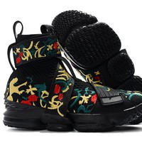 Nike LeBron 14 XIV ED Black/Gold Flower Basketball Shoe
