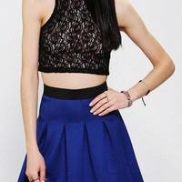 Urban Outfitters - Glamorous Lace Mock Neck Cropped Top