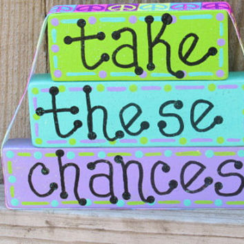 DMB Take These Chances, Dave Matthews home decor, Ants Marching,  DMB lyrics decor, Dave Matthews Art, wooden blocks, stacking blocks
