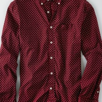 AEO Men's Printed Button Down Shirt