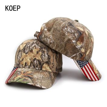 Trendy Winter Jacket KOEP 2018 Fashion Hunting Camouflage Baseball Cap Women's Men's Snapback Hat Summer Outdoor Fishing Hats For Men Army Camo Caps AT_92_12