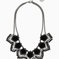 In the Limelight Necklace   Fashion Jewelry - Tuxedo Chic   charming charlie