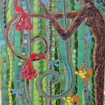 The Contented Willow - Tree Goddess mosaic