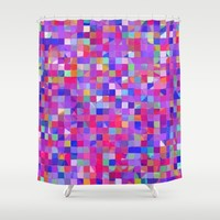 Colorful Squares Shower Curtain by Lena Photo Art