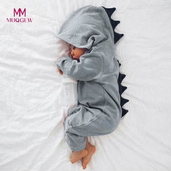 Kids Clothes Newborn Infant Baby Boy Girl Dinosaur Hooded Romper Jumpsuit Clothes Children Clothing Set Cotton Kids Outfits