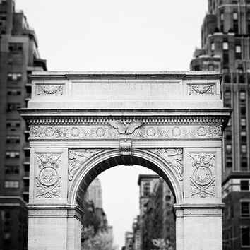 "New York Photography, Black and White Photography, NYC Print, Washington Square, Architecture Art, B&W Photo ""Washington Arch"""