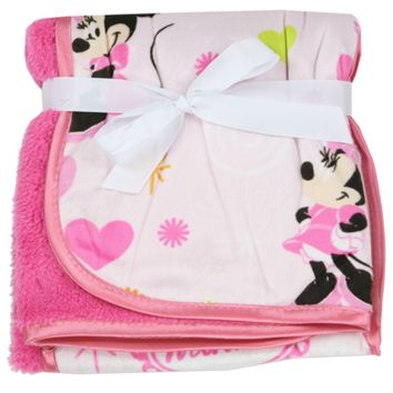 Disney's Minnie Mouse Plush Sherpa Blanket