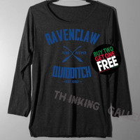 Ravenclaw Quidditch Shirt Long Sleeve TShirt T Shirt - Size S M L