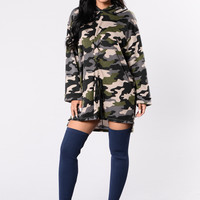 Dangerous Love Affair Tunic - Camo