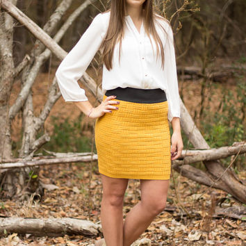 Sweet as Honey Sweater Skirt