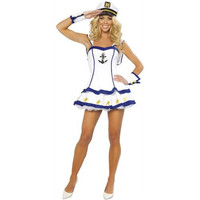 Roma Costume Womens Sailor Captain Halloween Party Dress Costume