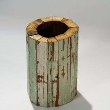 New Orleans Reclaimed Beadboard Vase Mint by RestorationHarbor