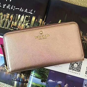 Kate Spade Women Fashion Leather Zipper Purse Wallet