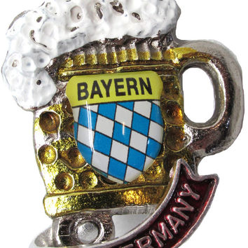 German Hat Pins: Oktoberfest Beer Stein