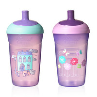 Tommee Tippee Explora Easiflow Truly Spill Proof 12 Ounce Water Bottle 2-Pack - Purple