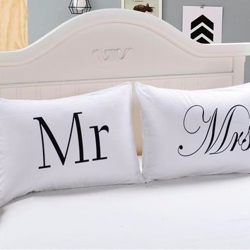 Mr & Mrs Romantic Couples Pillowcases - 12 Designs