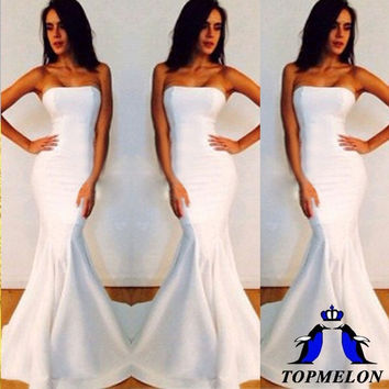 Sexy Bodycon Sleeveless Formal Wedding Evening Party Gown Bridesmade Prom Dress = 1933213764