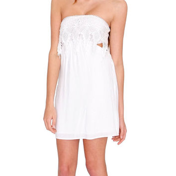 Summer Beauty Off-Shoulder Dress - White