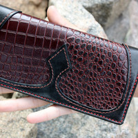 Long Wallet, gift for men, gift for woman, iphone wallet, mens wallet, travel wallet, handmade, Biker Leather Wallet