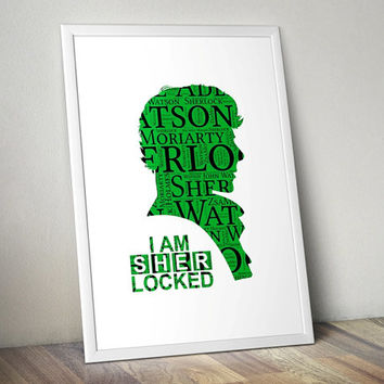 I am SHERlocked, Sherlock - Printable Poster - Digital Art - Download and Print